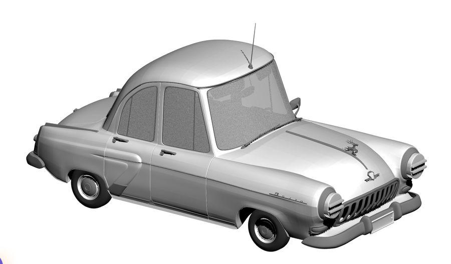 ретро автомобиль royalty-free 3d model - Preview no. 5
