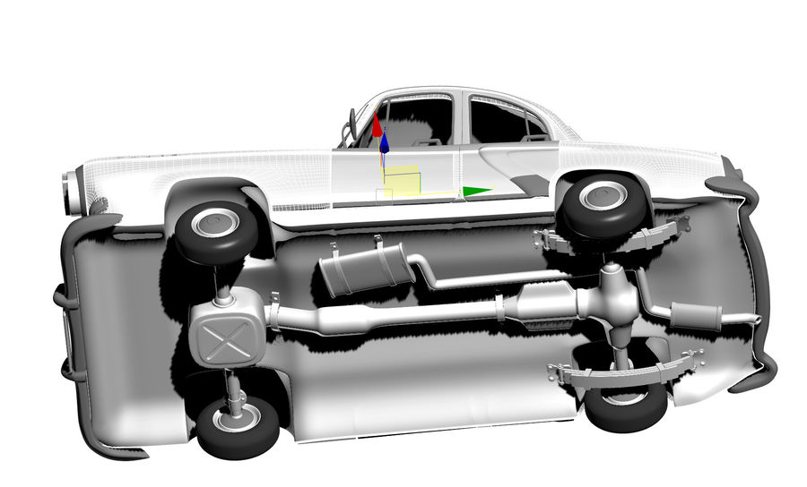 ретро автомобиль royalty-free 3d model - Preview no. 9
