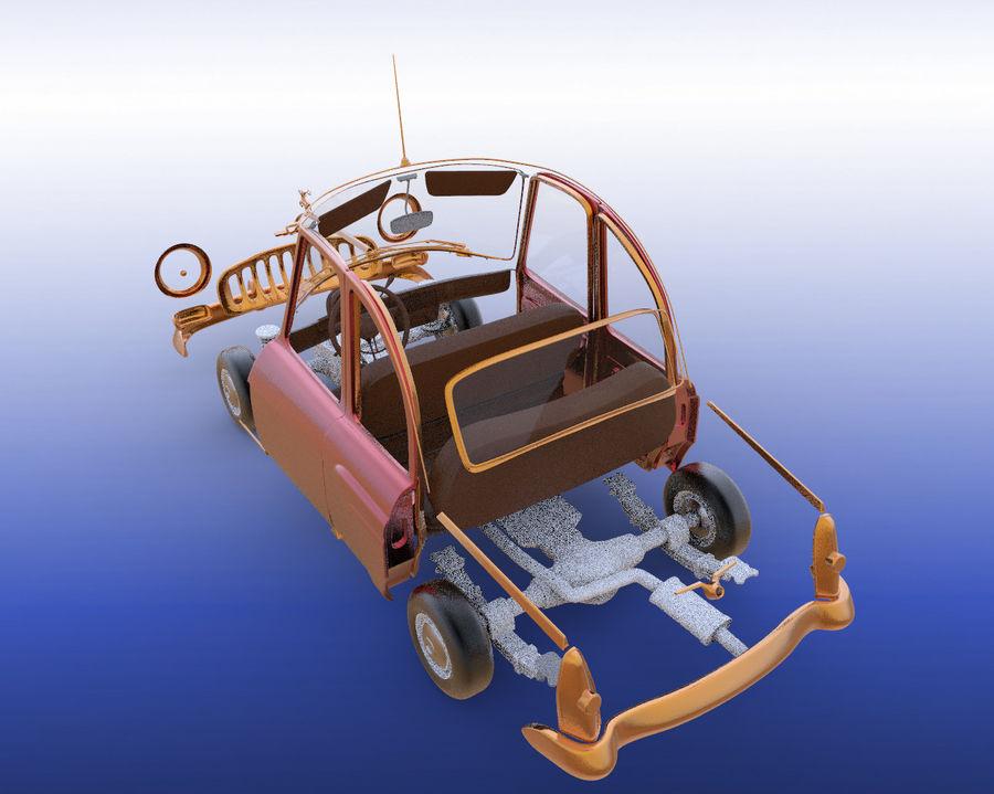ретро автомобиль royalty-free 3d model - Preview no. 2