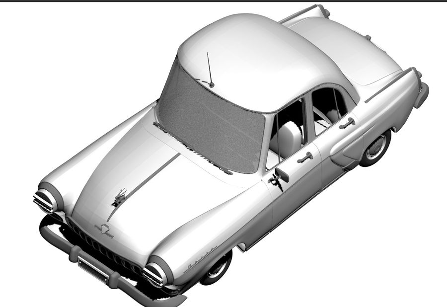 ретро автомобиль royalty-free 3d model - Preview no. 8