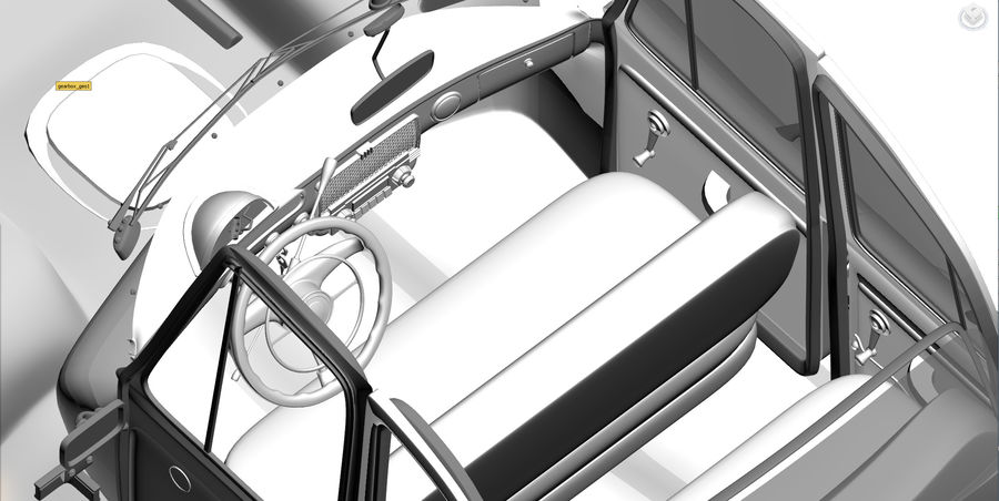 ретро автомобиль royalty-free 3d model - Preview no. 3