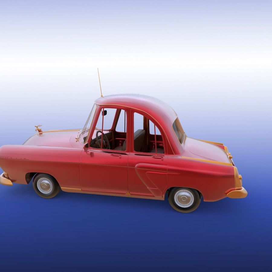 ретро автомобиль royalty-free 3d model - Preview no. 11