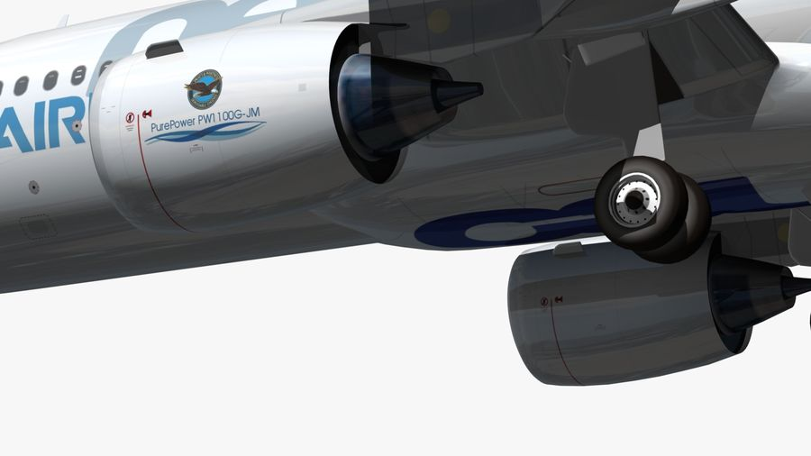Airbus A320 NEO royalty-free 3d model - Preview no. 12