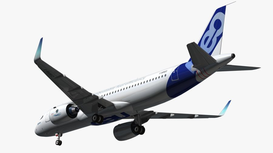 Airbus A320 NEO royalty-free 3d model - Preview no. 7
