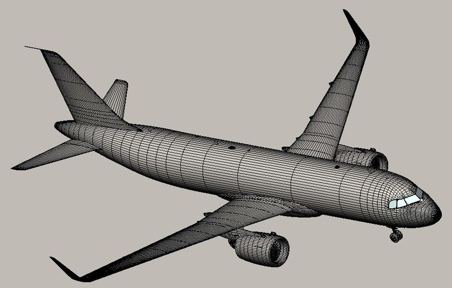 Airbus A320 NEO royalty-free 3d model - Preview no. 13