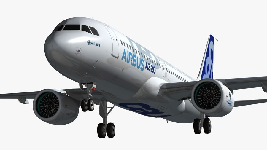 Airbus A320 NEO royalty-free 3d model - Preview no. 10