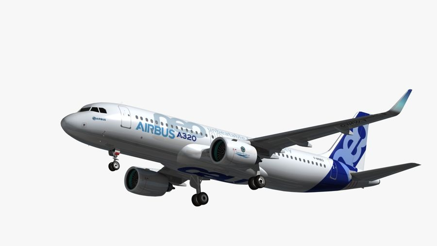 Airbus A320 NEO royalty-free 3d model - Preview no. 9