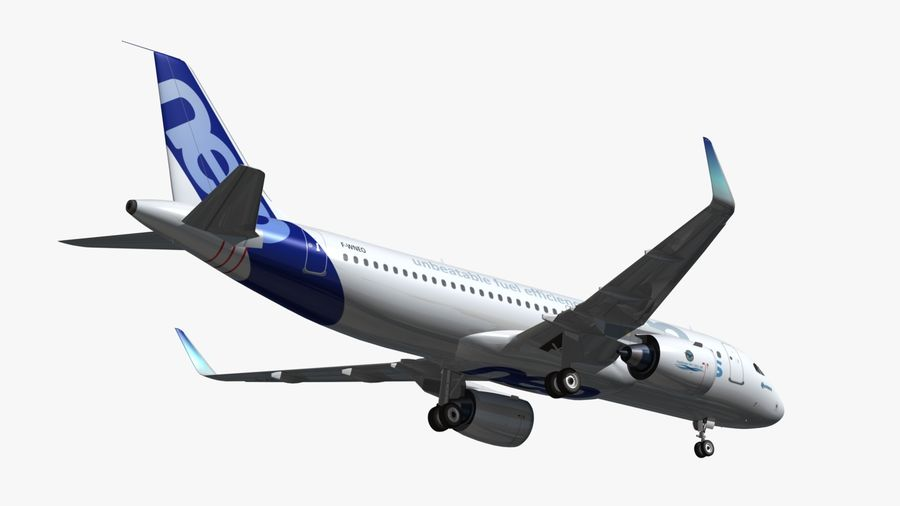 Airbus A320 NEO royalty-free 3d model - Preview no. 8