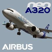 에어 버스 A320 NEO 3d model
