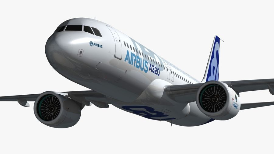 Airbus A320 NEO royalty-free 3d model - Preview no. 11