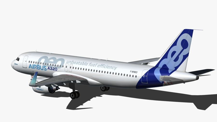 Airbus A320 NEO royalty-free 3d model - Preview no. 5