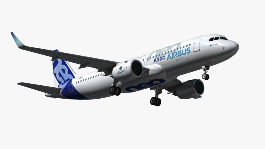 Airbus A320 NEO royalty-free 3d model - Preview no. 6