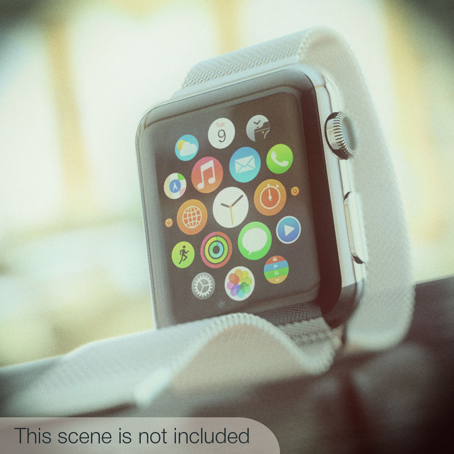 Apple Watch royalty-free 3d model - Preview no. 7