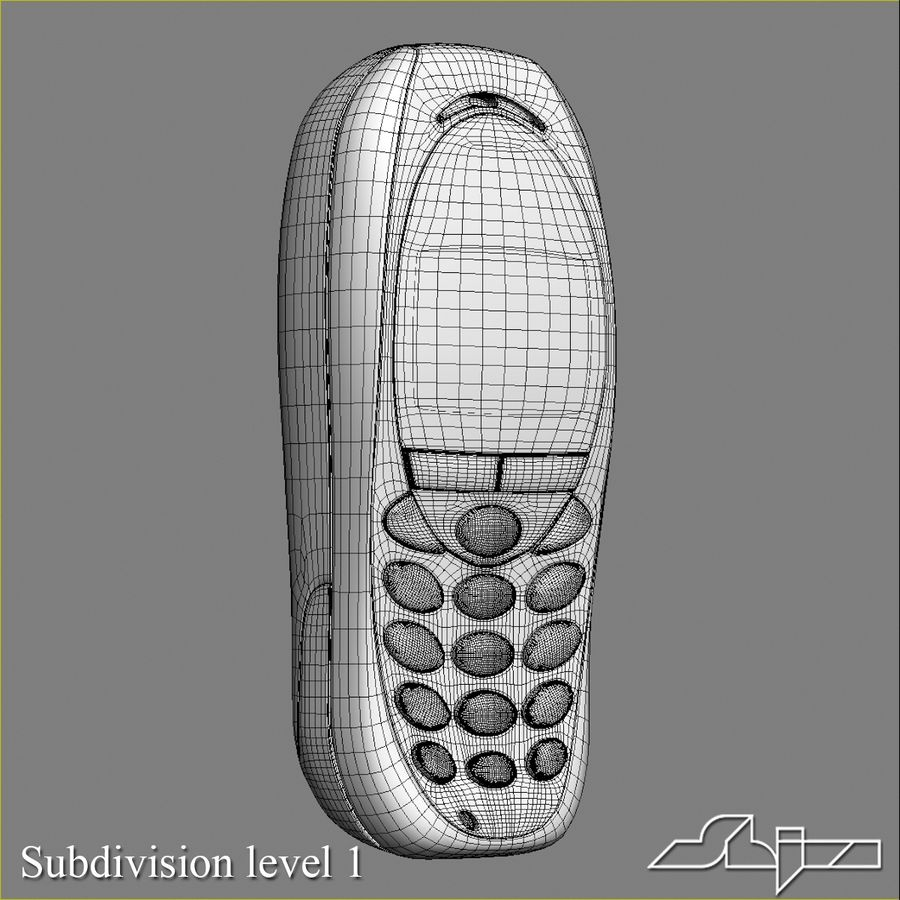 Siemens Мобильный телефон royalty-free 3d model - Preview no. 9