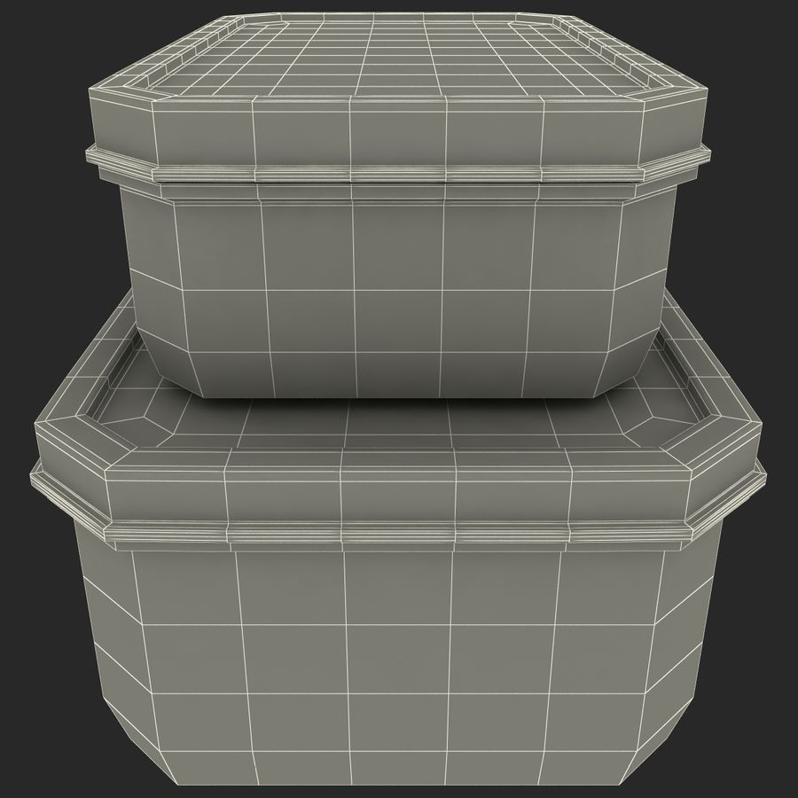 Plastic Food Containers royalty-free 3d model - Preview no. 23