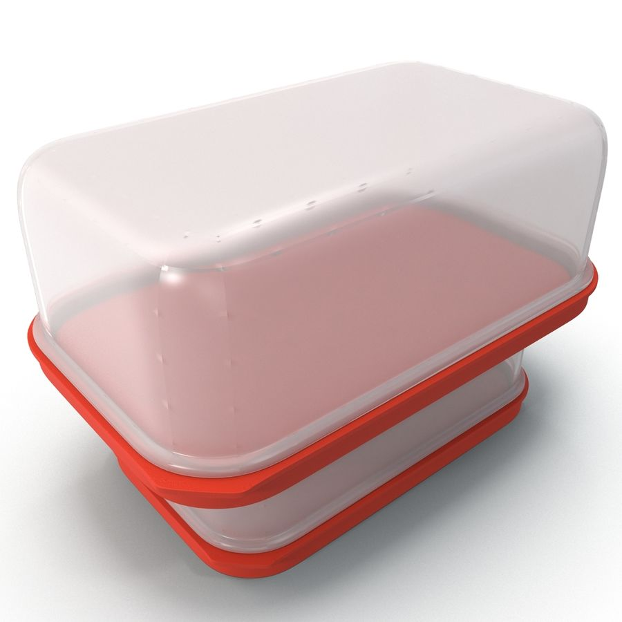 Plastic Food Containers royalty-free 3d model - Preview no. 8