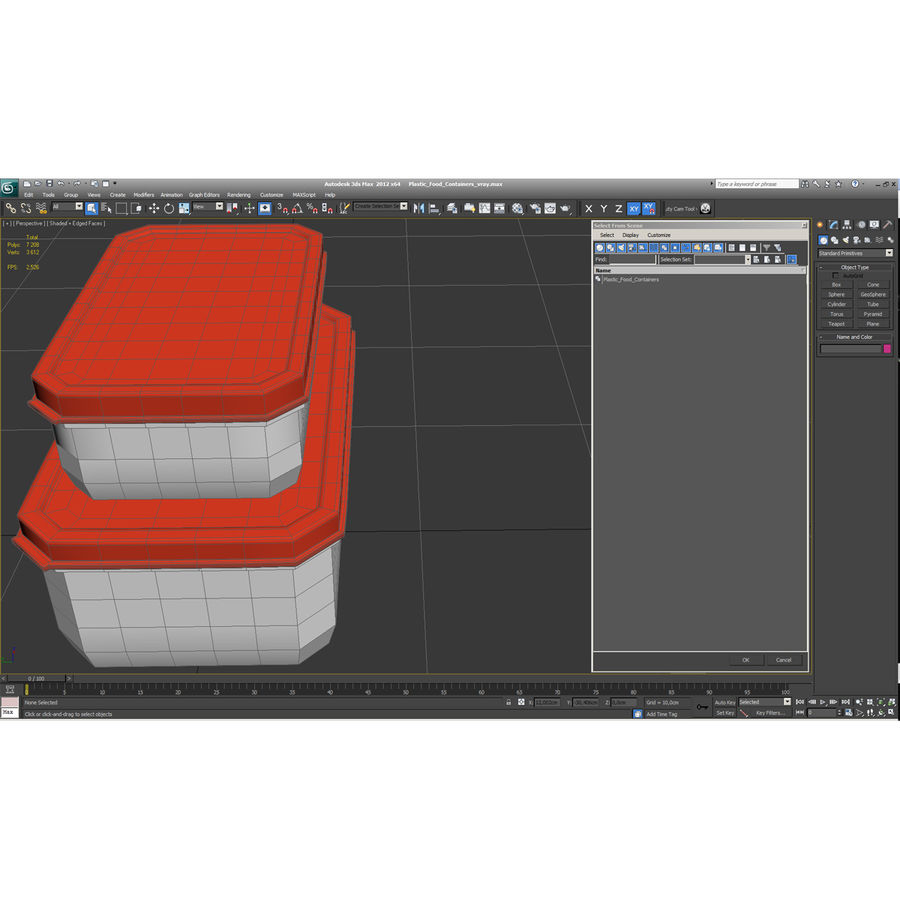 Plastic Food Containers royalty-free 3d model - Preview no. 34