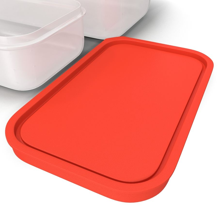 Plastic Food Containers royalty-free 3d model - Preview no. 20