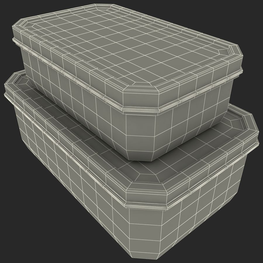 Plastic Food Containers royalty-free 3d model - Preview no. 26