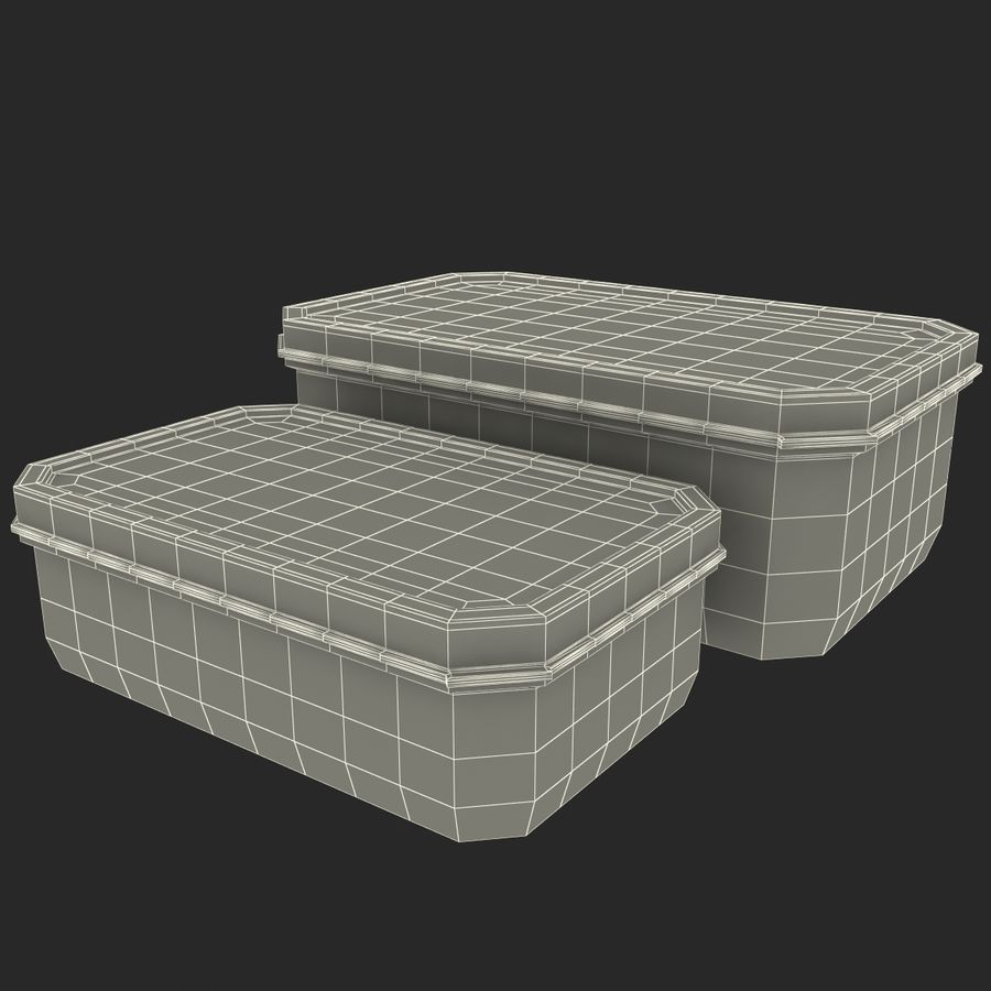 Plastic Food Containers royalty-free 3d model - Preview no. 27