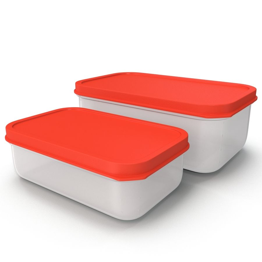 Plastic Food Containers royalty-free 3d model - Preview no. 14