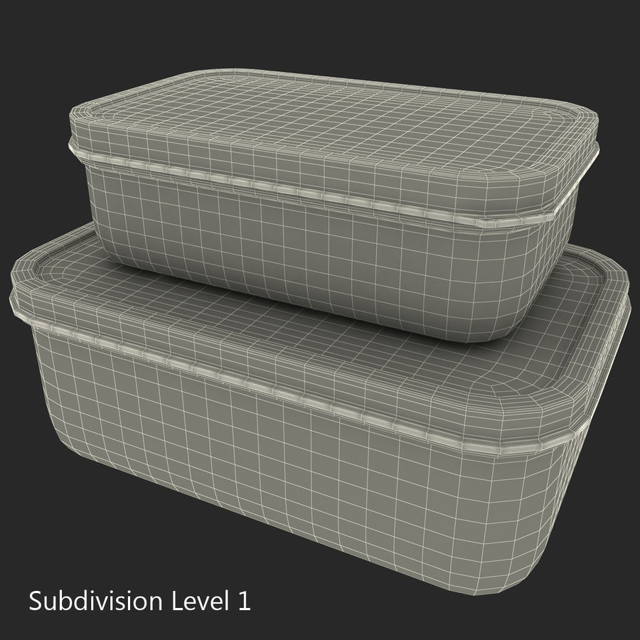 Plastic Food Containers royalty-free 3d model - Preview no. 31