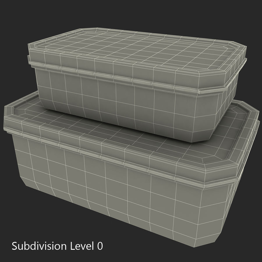 Plastic Food Containers royalty-free 3d model - Preview no. 30