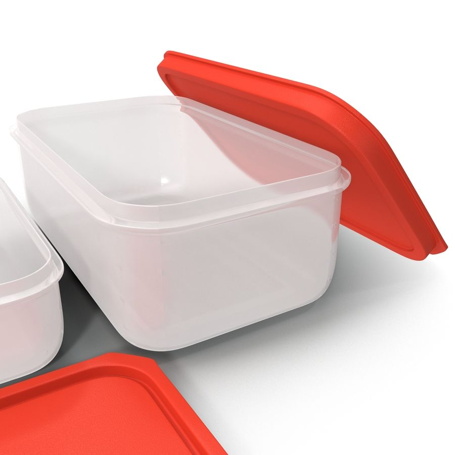 Plastic Food Containers royalty-free 3d model - Preview no. 21