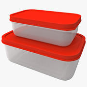 Plastic Food Containers 3d model