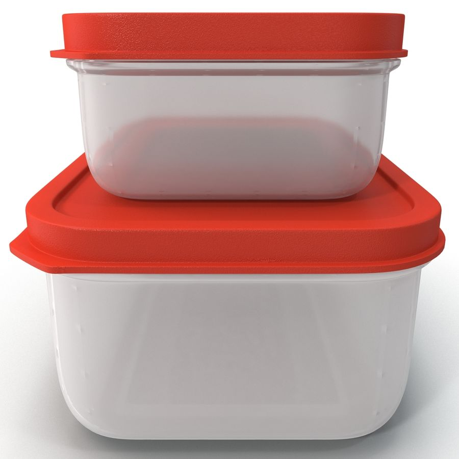 Plastic Food Containers royalty-free 3d model - Preview no. 6