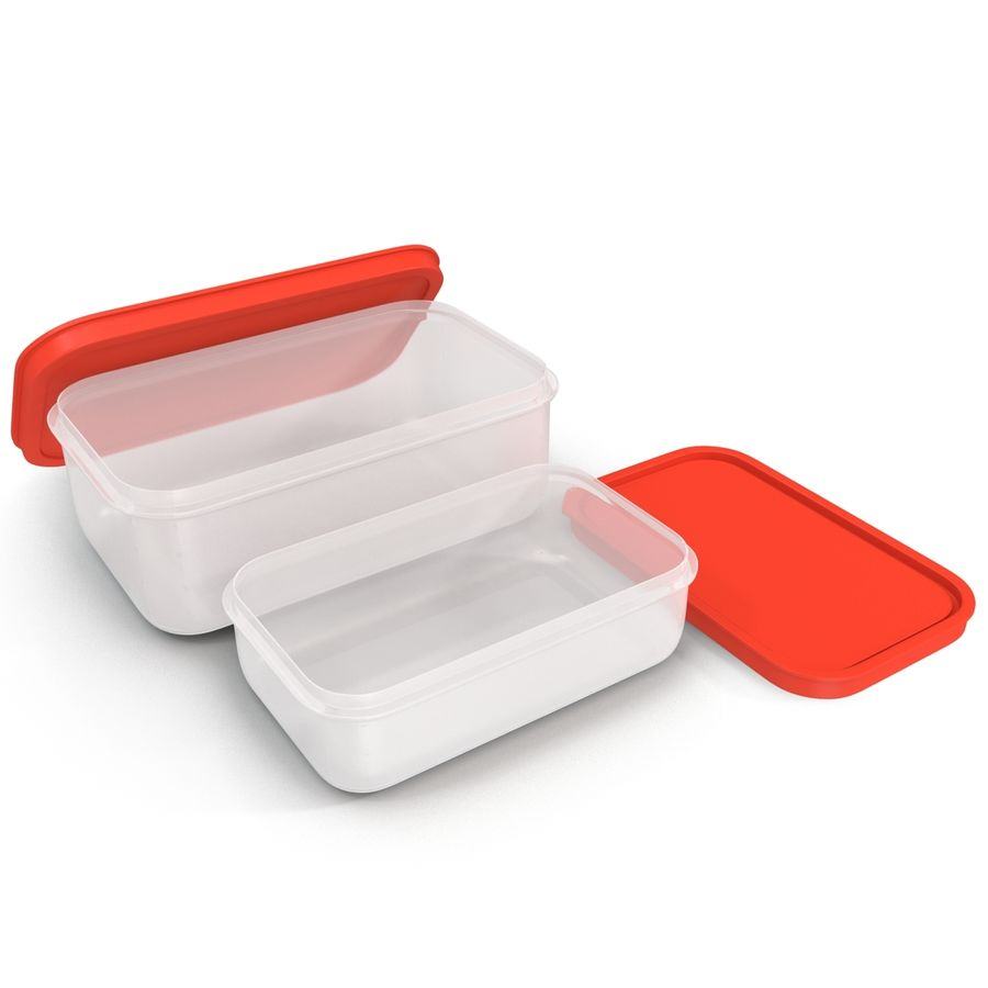 Plastic Food Containers royalty-free 3d model - Preview no. 18