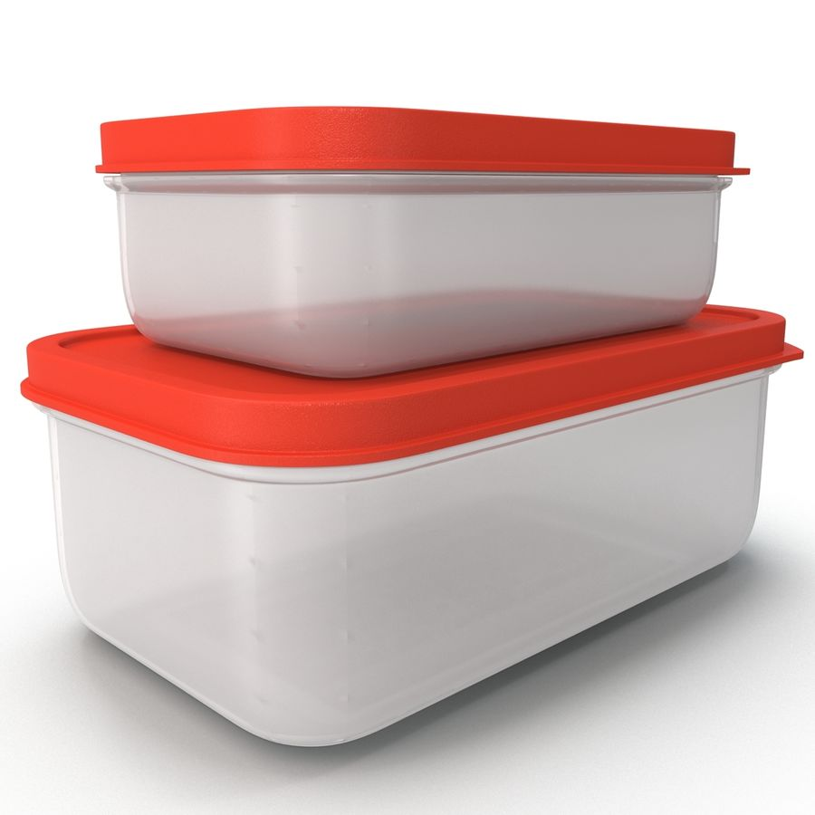 Plastic Food Containers royalty-free 3d model - Preview no. 12