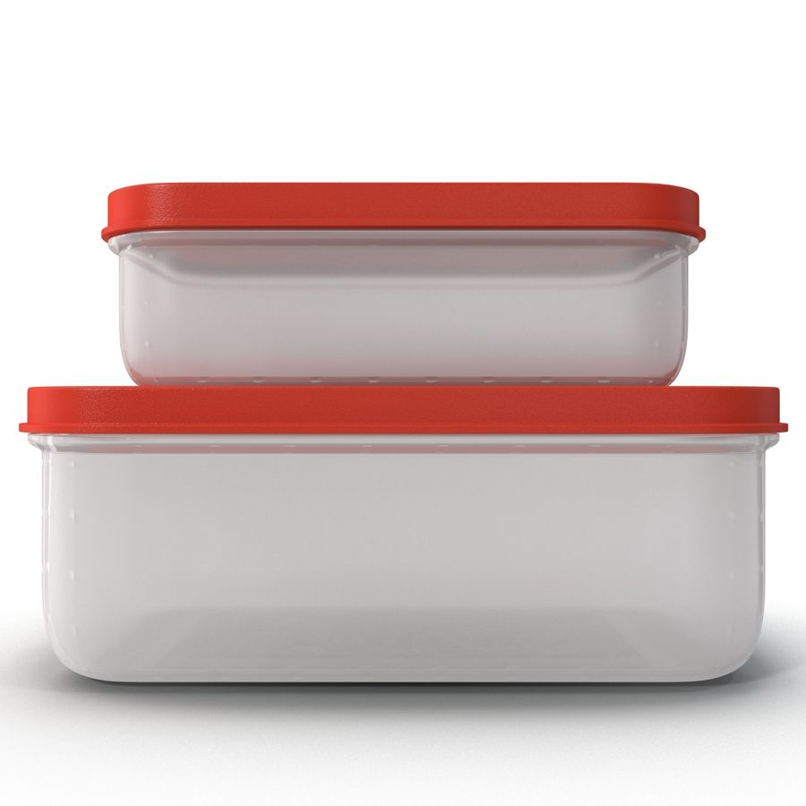 Plastic Food Containers royalty-free 3d model - Preview no. 1