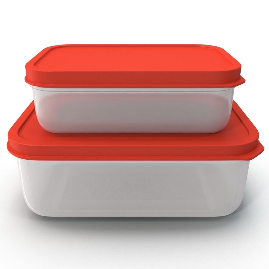 Plastic Food Containers royalty-free 3d model - Preview no. 5