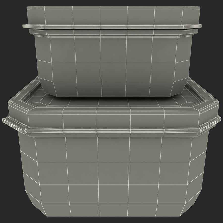 Plastic Food Containers royalty-free 3d model - Preview no. 25