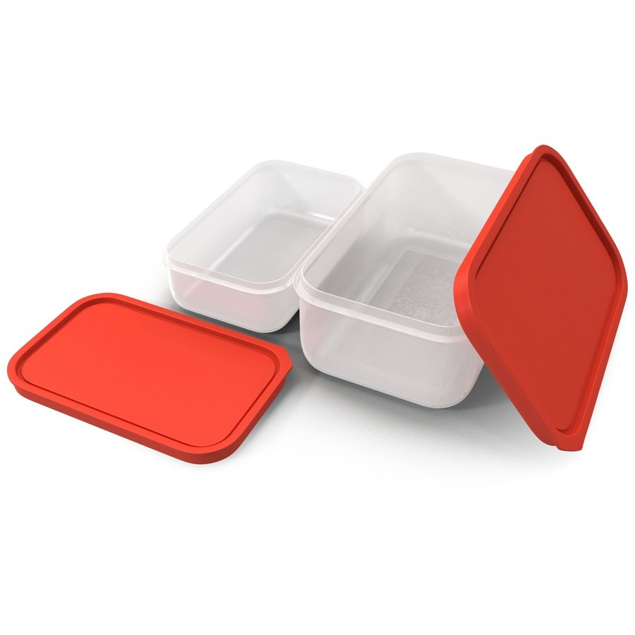 Plastic Food Containers royalty-free 3d model - Preview no. 15
