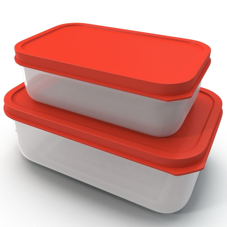 Plastic Food Containers royalty-free 3d model - Preview no. 13