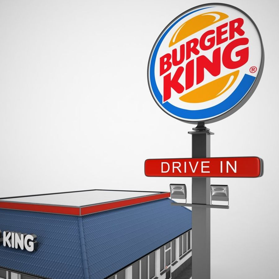 Burger King Restaurant 01 royalty-free 3d model - Preview no. 17