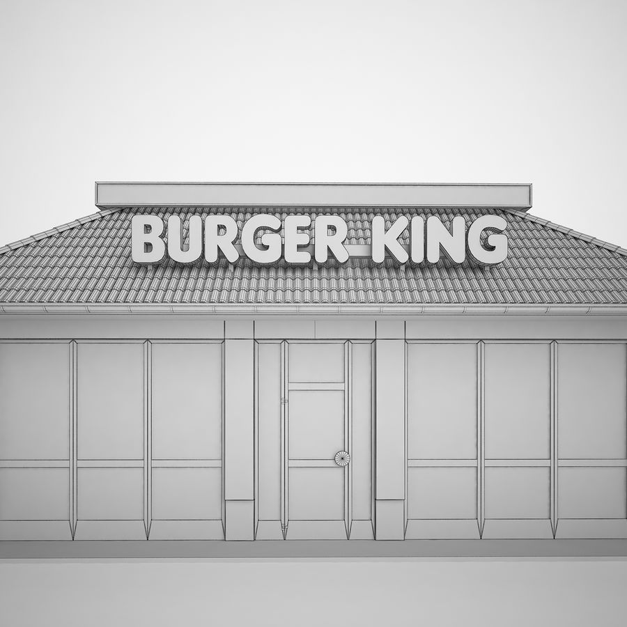 Burger King Restaurant 01 royalty-free 3d model - Preview no. 20