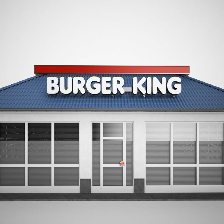 Burger King Restaurant 01 royalty-free 3d model - Preview no. 19