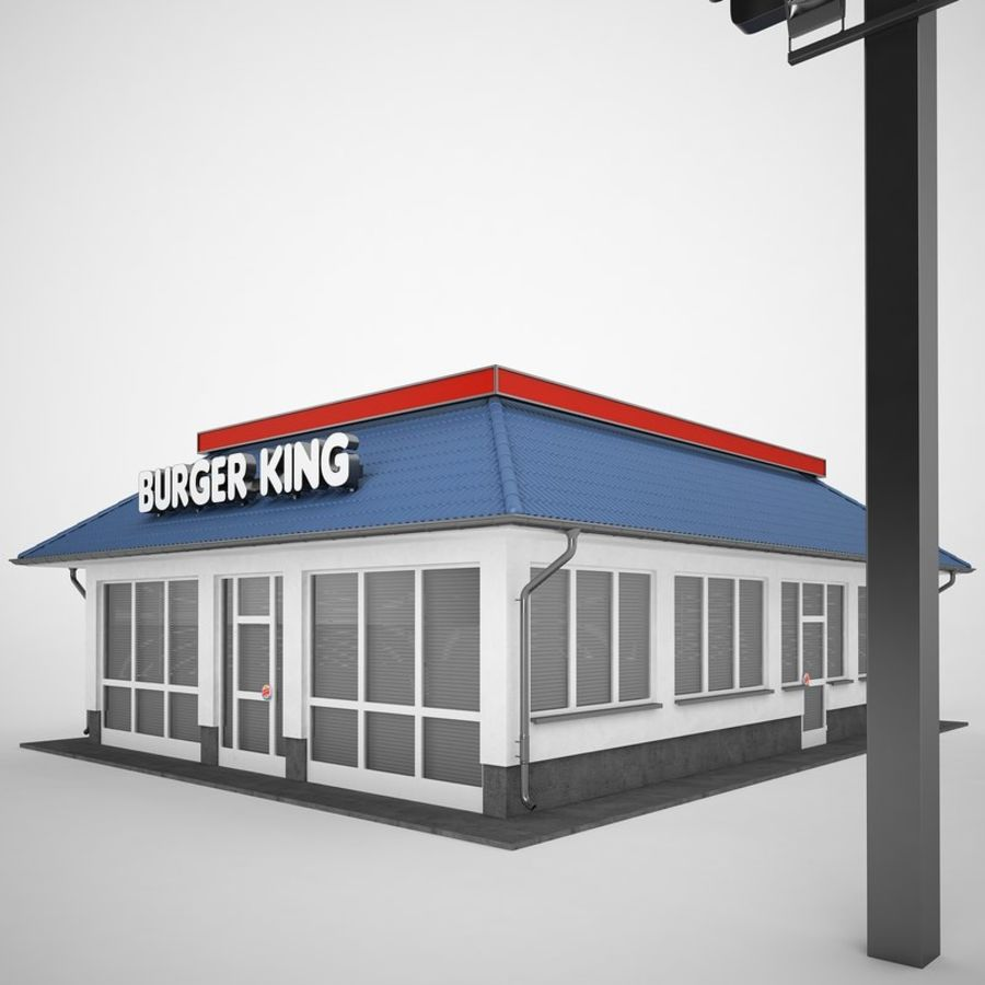 Burger King Restaurant 01 royalty-free 3d model - Preview no. 9