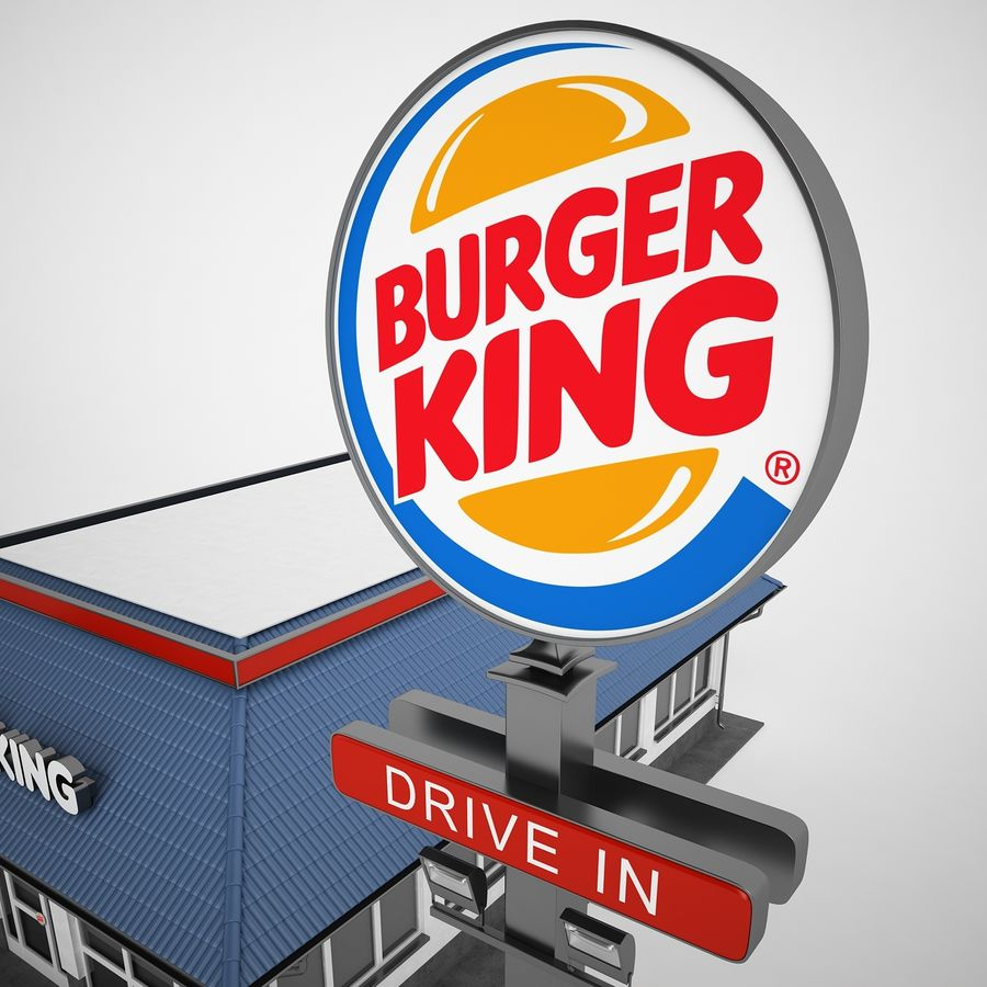 Burger King Restaurant 01 royalty-free 3d model - Preview no. 29