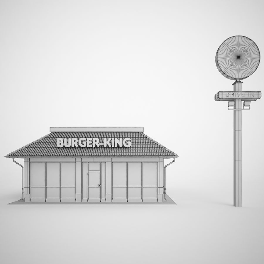 Burger King Restaurant 01 royalty-free 3d model - Preview no. 6