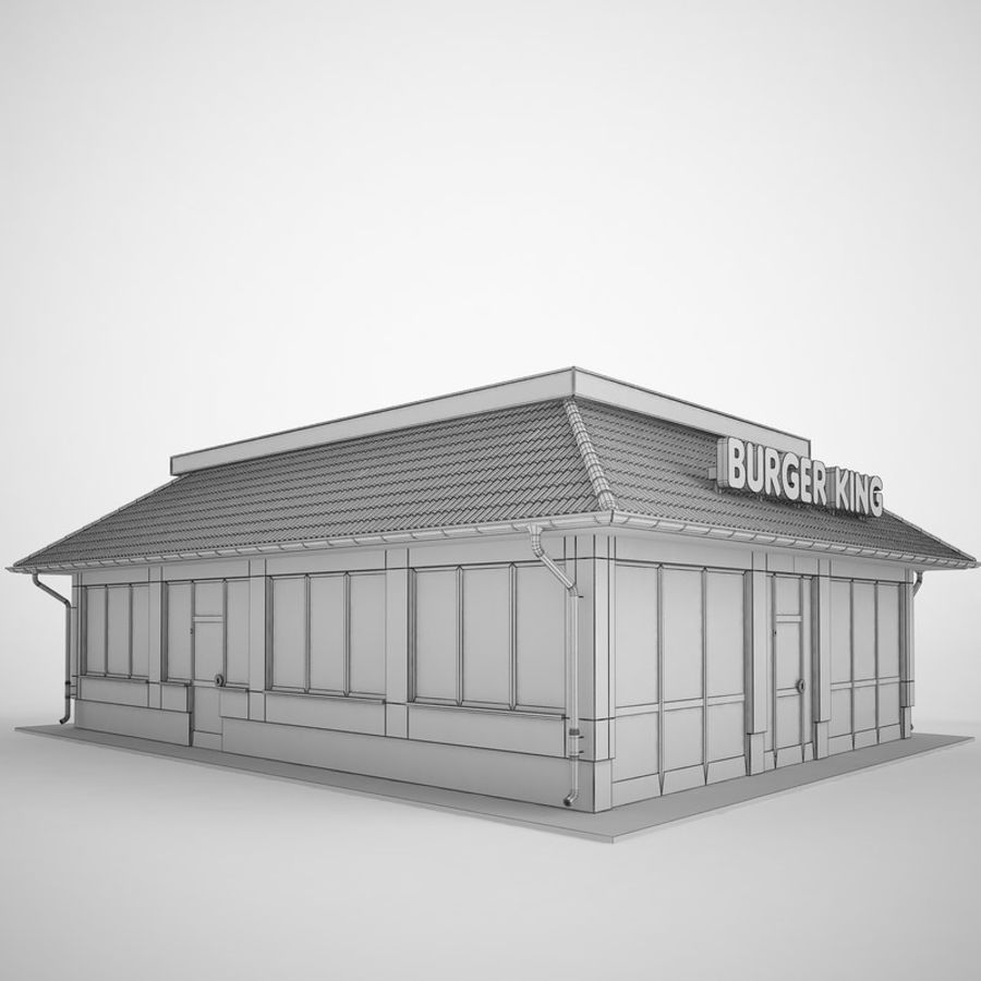 Burger King Restaurant 01 royalty-free 3d model - Preview no. 8