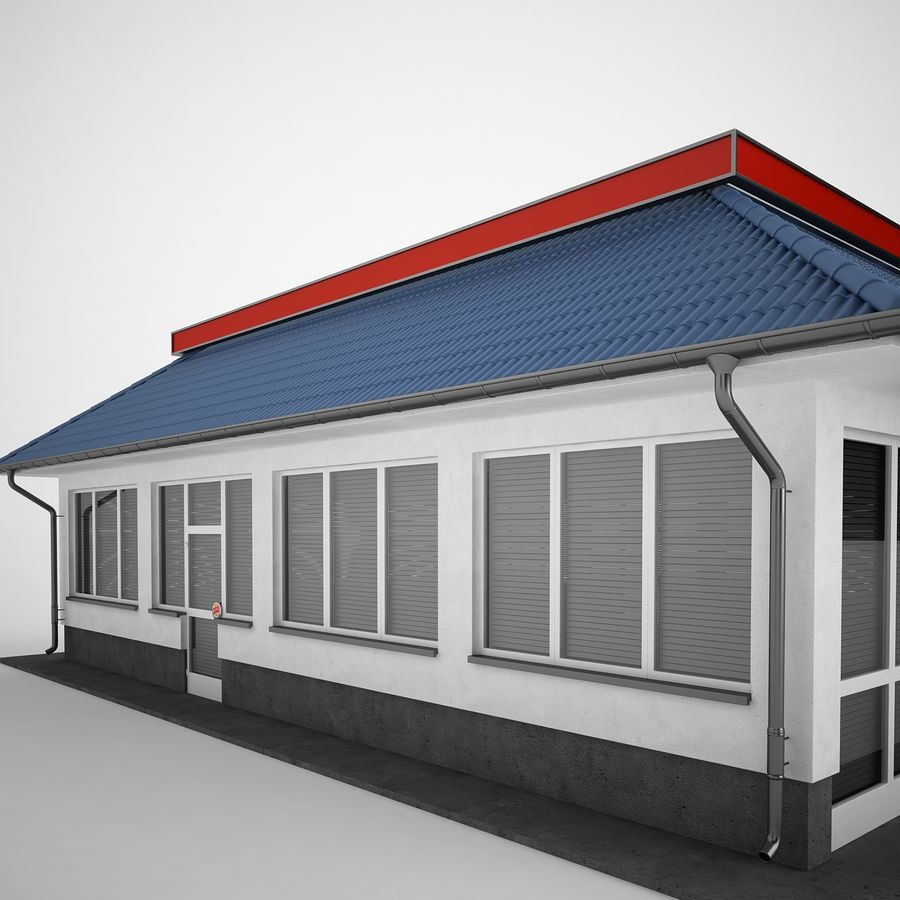 Burger King Restaurant 01 royalty-free 3d model - Preview no. 23