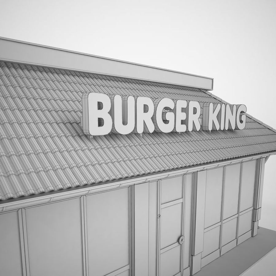 Burger King Restaurant 01 royalty-free 3d model - Preview no. 22