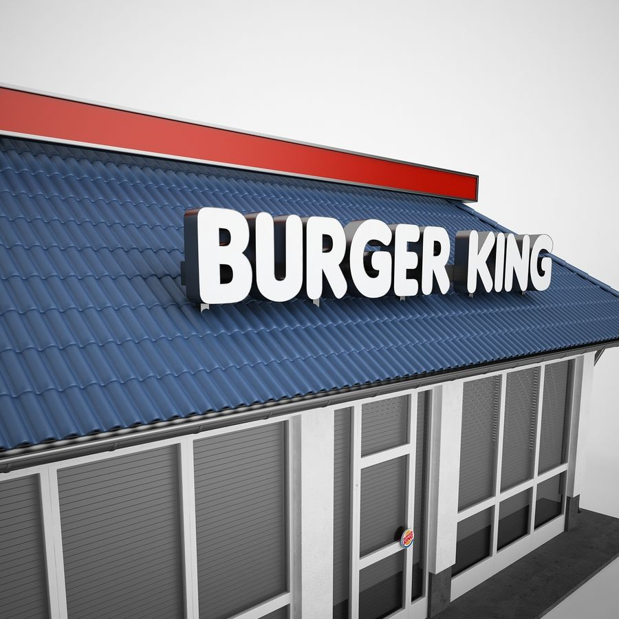Burger King Restaurant 01 royalty-free 3d model - Preview no. 21