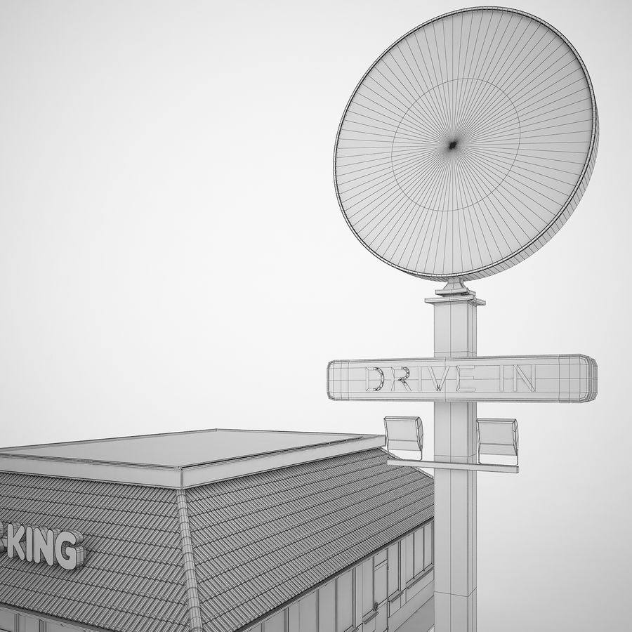 Burger King Restaurant 01 royalty-free 3d model - Preview no. 18