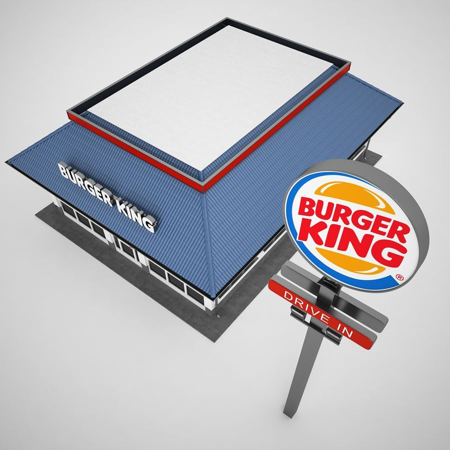 Burger King Restaurant 01 royalty-free 3d model - Preview no. 33