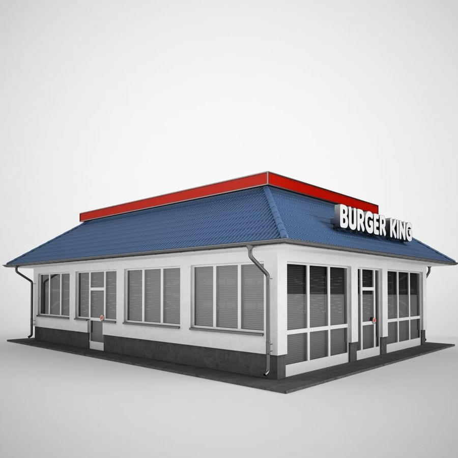 Burger King Restaurant 01 royalty-free 3d model - Preview no. 7